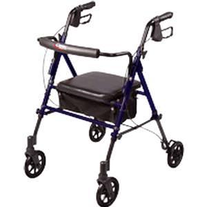 Carex Step N' Rest Roller Walker with Adjustable Seat