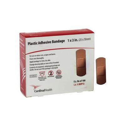 Cardinal Plastic Adhesive Bandage, 1 Inch x 3 Inch