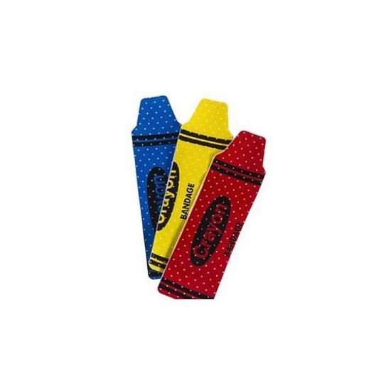 "Cardinal Health Adhesive Plastic Bandage, Crayon Design, 0.75"" x 3"""