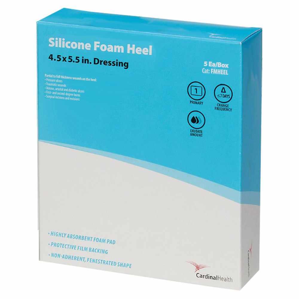 Cardinal Silicone Foam Heel Dressing, 4.5 Inch x 5.5 Inch