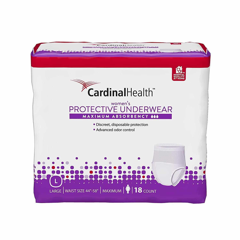 Cardinal Health Maximum Absorbency Protective Underwear for Women, 45