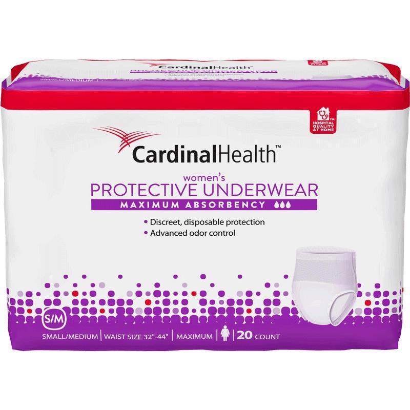 Cardinal Health Maximum Absorbency Protective Underwear for Women, 32