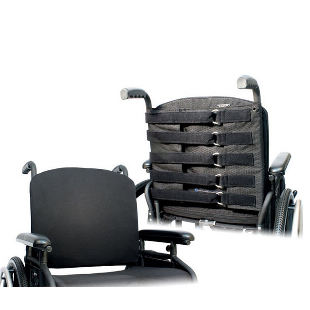 Elements wheelchair back with adjustable tension strap