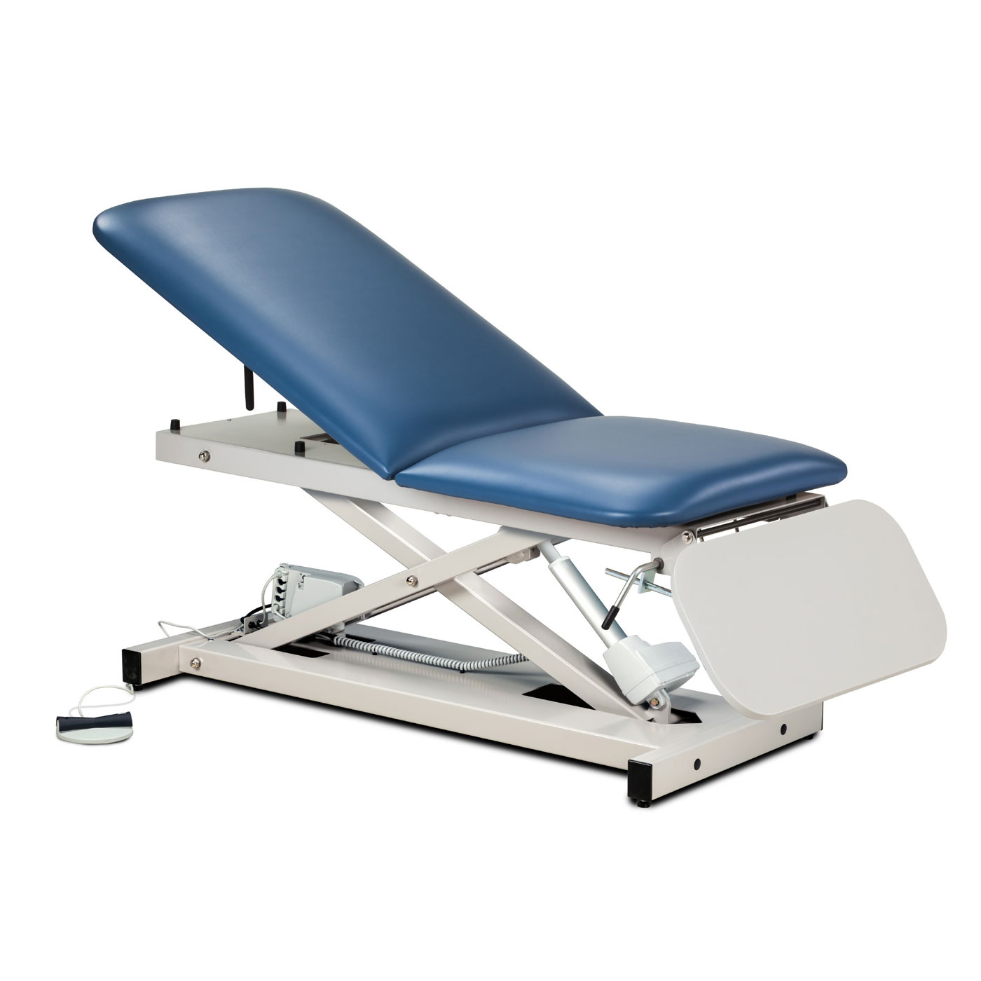 Clinton open base power casting table with ClintonClean leg rest