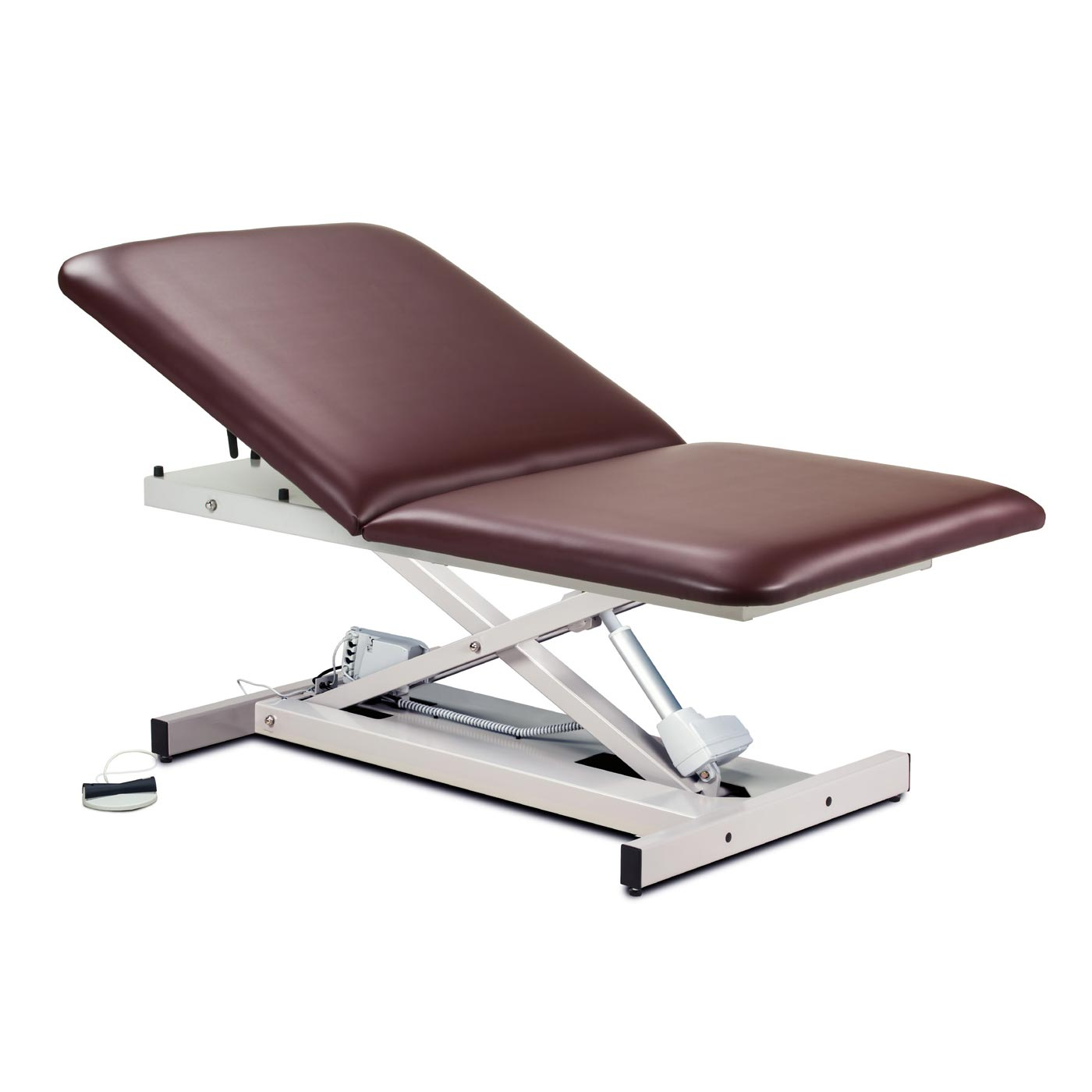Clinton open base, extra wide, bariatric, power table with adjustable backrest