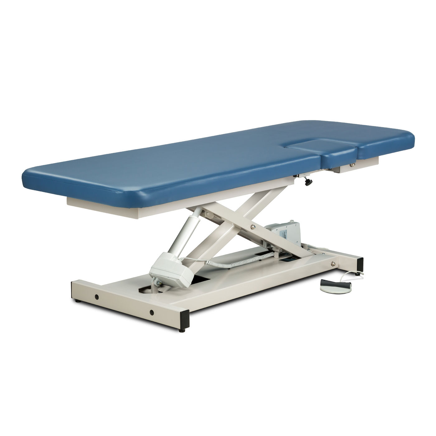 Clinton open base, power imaging table with window drop