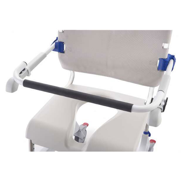 Aquatec ocean shower commode chair - Safety bar