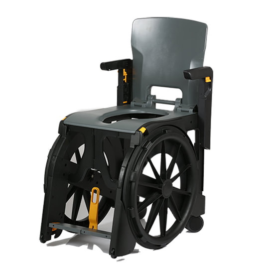 Wheelable Shower Commode Chair