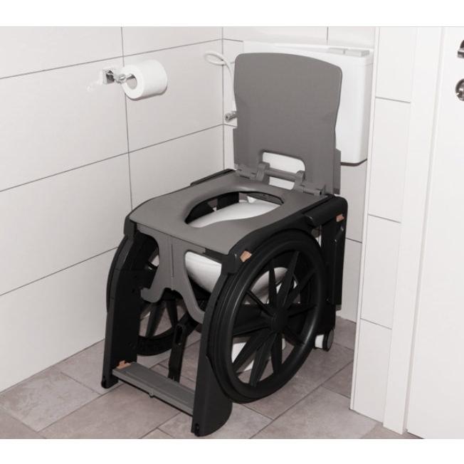 Wheelable Shower Commode Chair | Seatara Shower Commode Chair