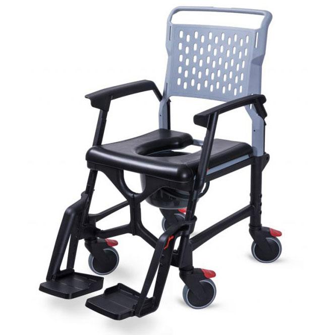 Bathmobile shower chair - with optional commode pan