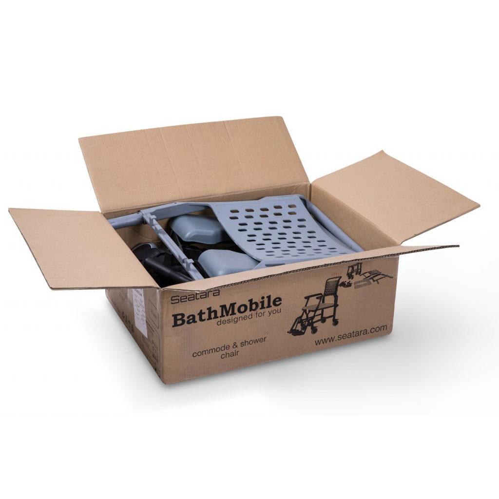 Bathmobile shower commode chair - Disassembled