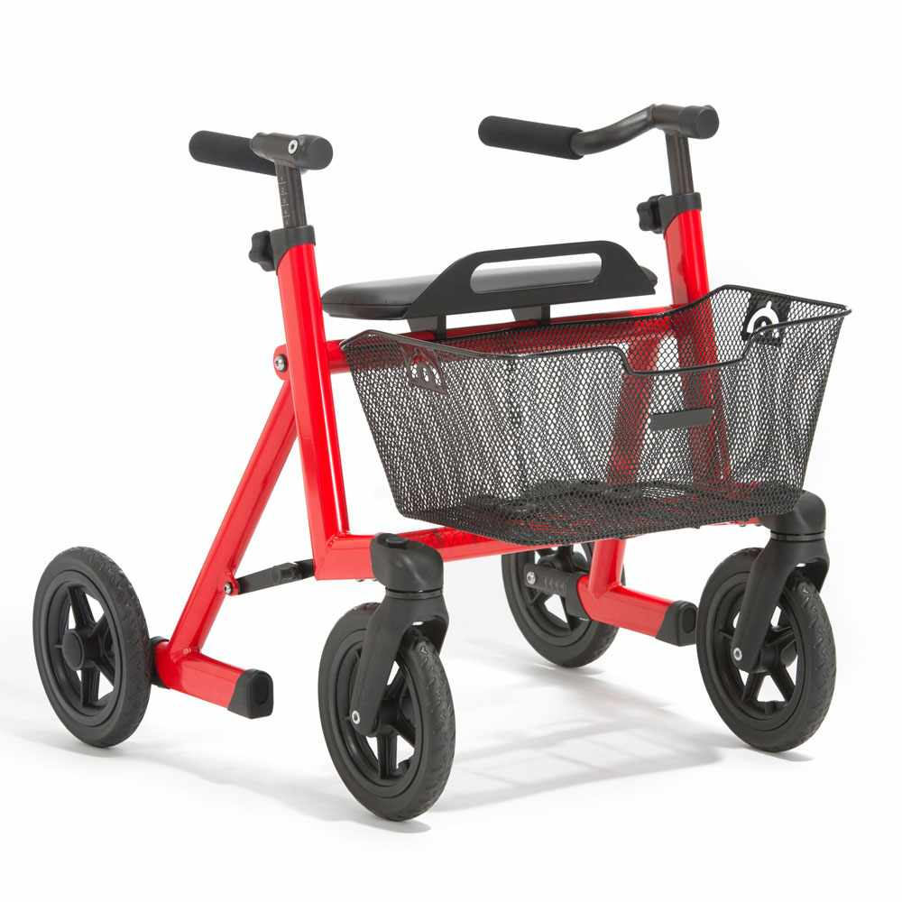 Marcy anterior rollator size 2 - Traffic red