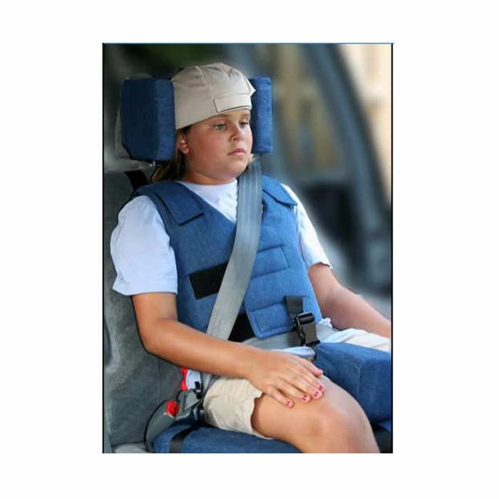 Churchill car seat with positioning vest