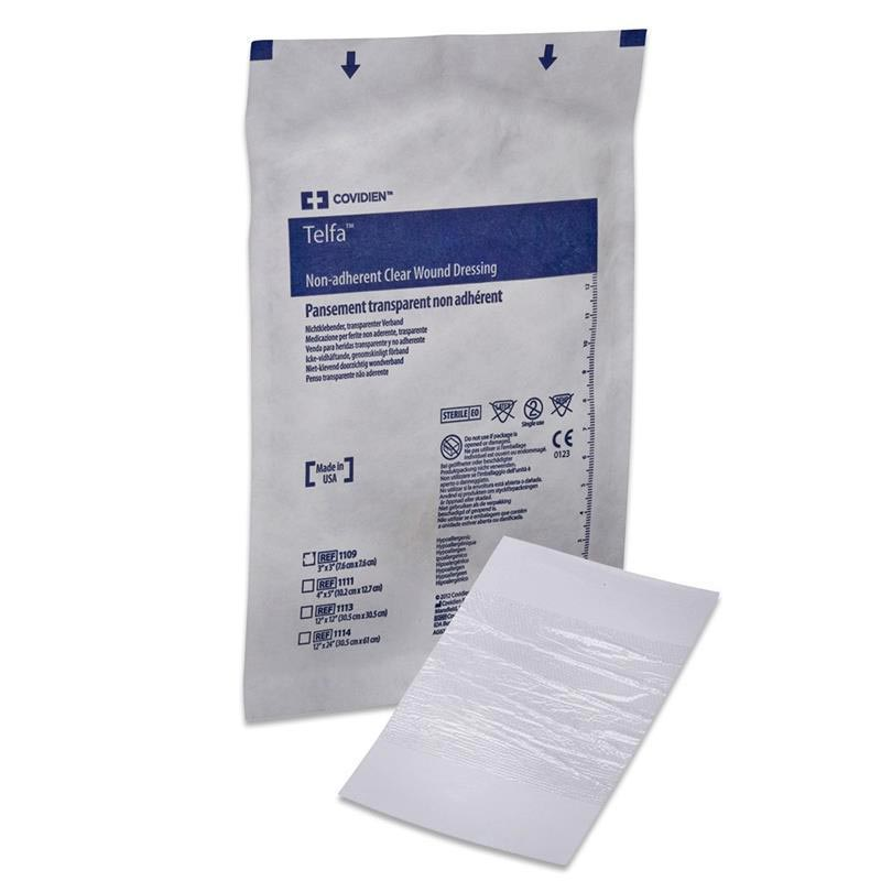 "Covidien telfa precut clear wound contact layer dressing 4"" x 5"""