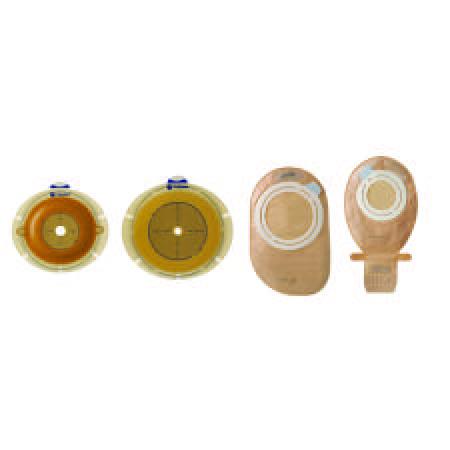 "Coloplast Sensura flex trim-fit adhesive ostomy barrier, 2""flange, red, 5/8 to 1-1/4""stoma"