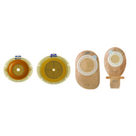 "Coloplast Sensura flex skin barrier with belt tabs 1-1/8"" stoma, 2"" flange, round"