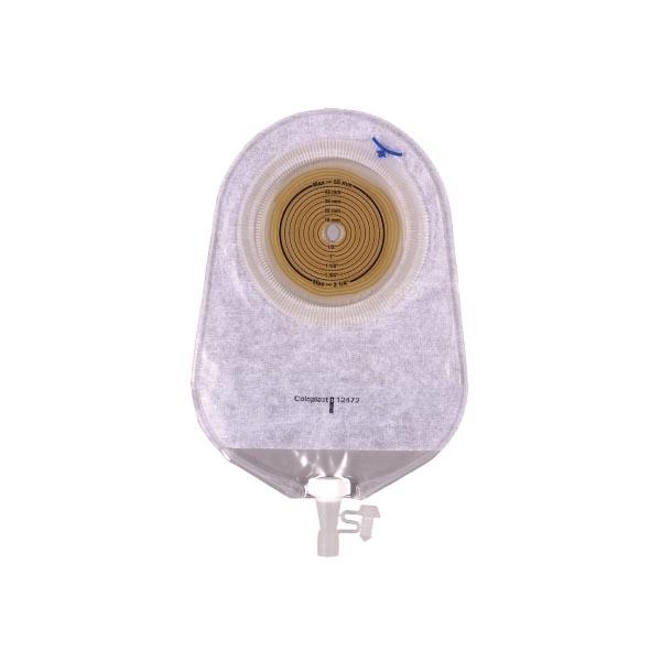 """Coloplast Assura 1-piece urostomy pouch, 3/8"""" to 2-1/4""""stoma, 375ml, 9-1/2""""L"""