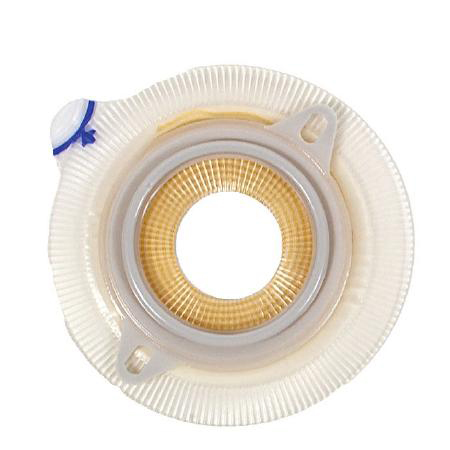 """Colostomy barrier Assura silicone based red synthetic resin cut-to-fit, 3/4 to 1-1/4"""" stoma"""