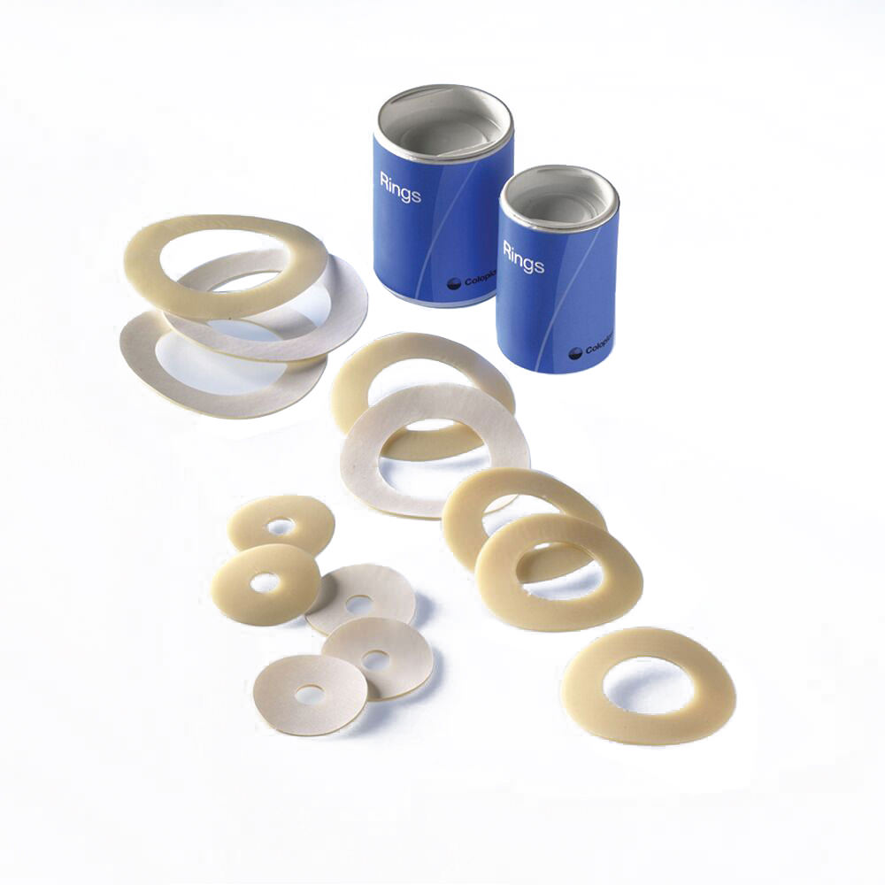 """Coloplast skin barrier rings 3/4"""" stoma soft and flexible ring-shaped hydrocolloid barrier"""