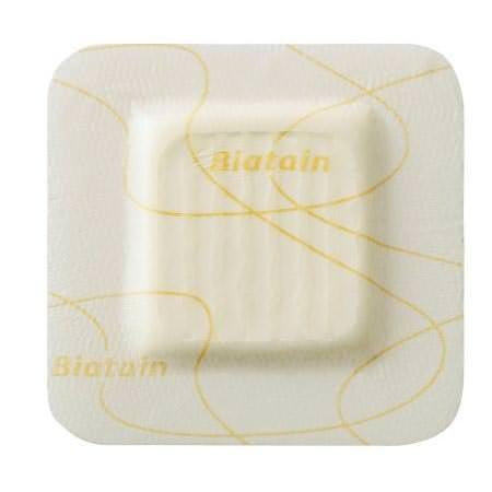 """Coloplast Biatain Silicone Lite Foam Dressing 4"""" x 4"""" with 2.13"""" x 2.13"""" Pad"""
