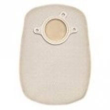 """Convatec Natura+ Two-Piece Filtered Ostomy Pouch, Tan, 8"""" Length, 1 1/2"""" Flange"""