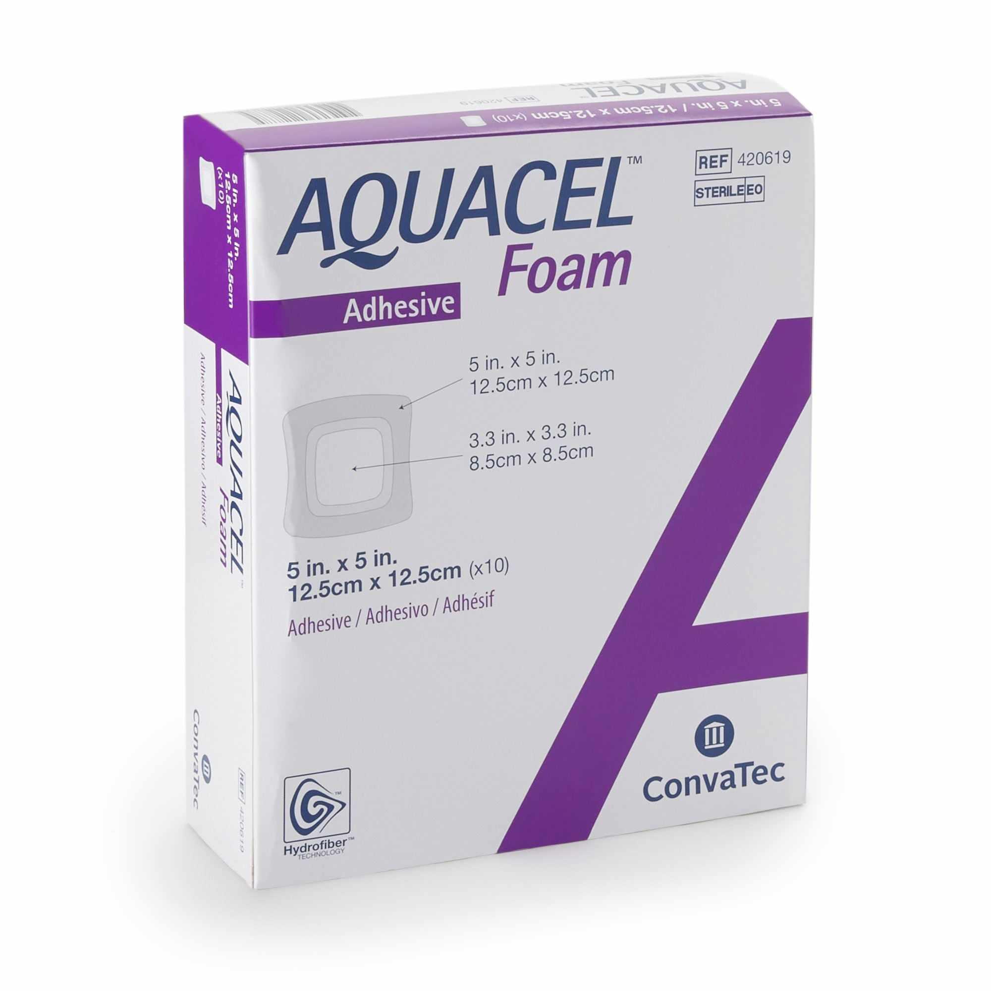 "AQUACEL Gelling Adhesive Foam Dressing 5"" x 5"""