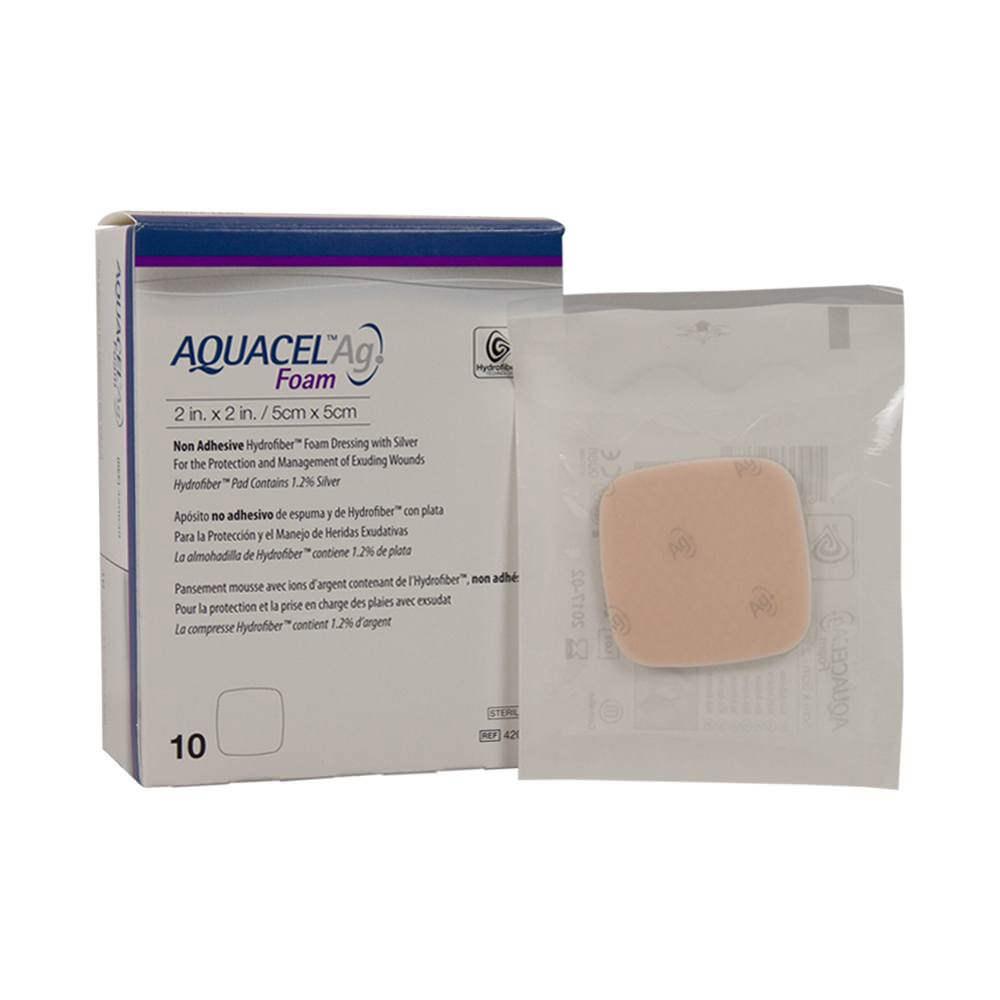"ConvaTec Aquacel Ag Foam Non-Adhesive Dressing 2"" x 2"""