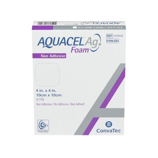 "AQUACEL Ag Foam Non-Adhesive Dressing 4"" x 4"""