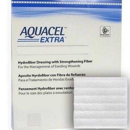 """Convatec aquacel extra 6"""" x 6"""" hydrofiber wound dressing - 5/box"""