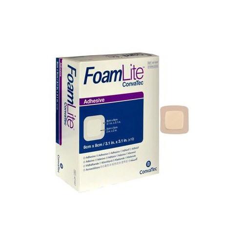 Convatec FoamLite Square Foam Adhesive Dressing, 3-1/4 x 3-1/4 Inch