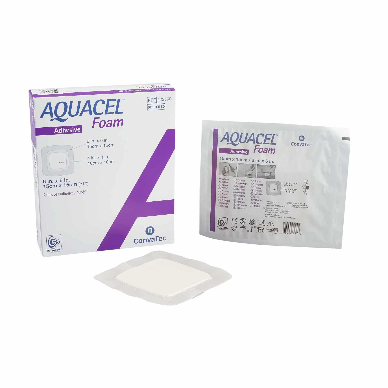 Convatec Aquacel Adhesive Foam Wound Dressing, Square, 6 x 6 Inch