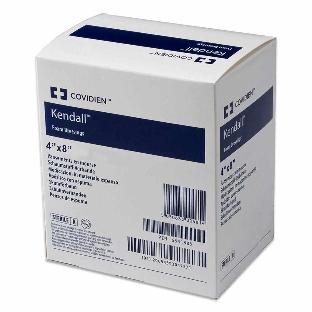 "Covidien copa ultra-soft hydrophilic foam dressing 4"" x 8"" rectangle"