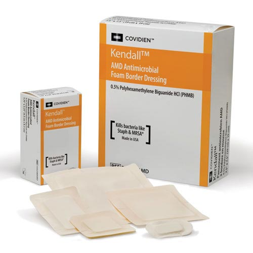 "Covidien AMD foam border dressing 7-1/2"" x 7-1/2"""
