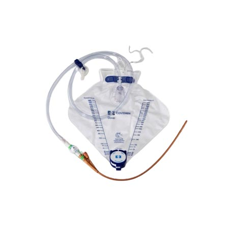 Dover Silicone Two Way Foley Catheter Tray, 14Fr OD, 2000mL