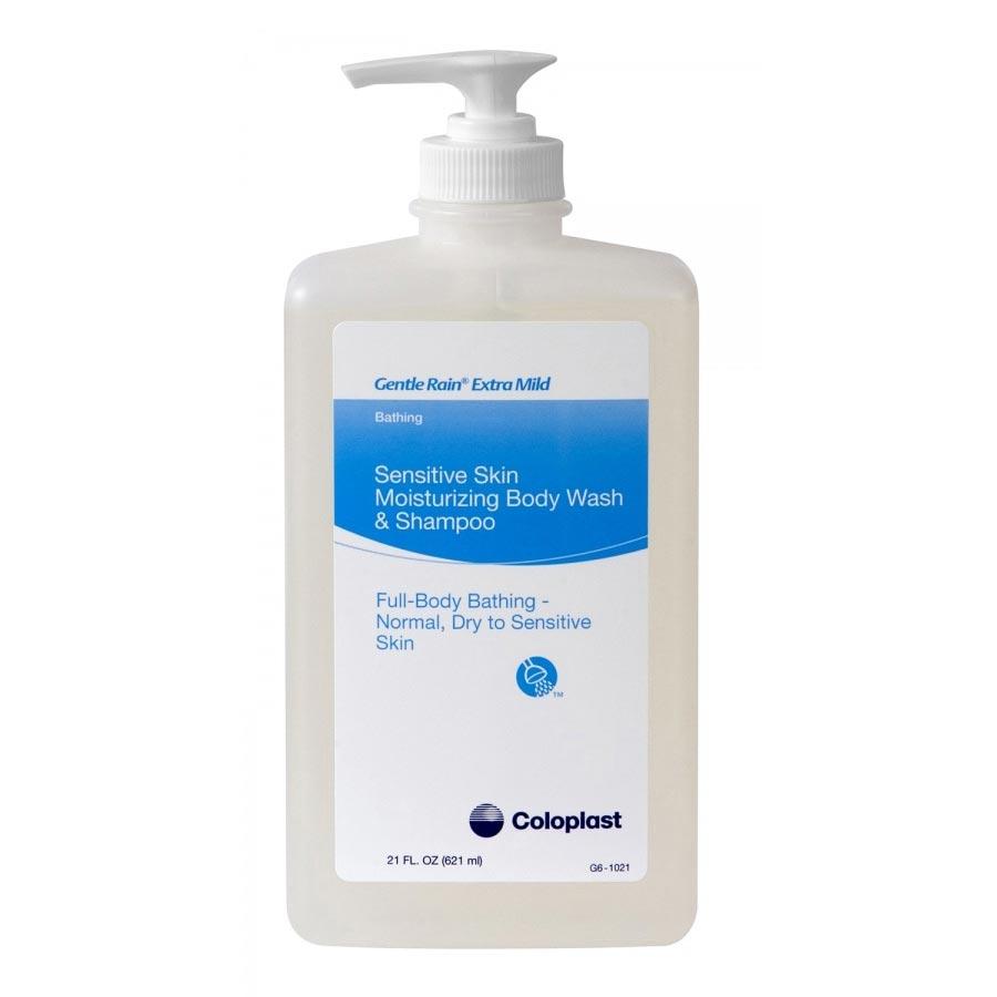 Coloplast Shampoo and Body Wash Gentle Rain Extra Mild 21 oz. Bottle Scented