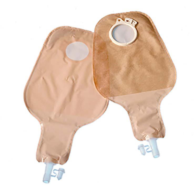 "Coloplast Assura 2-piece high output drainable pouch 3/8"" to 1-3/8"" stoma,600ml,transparent"