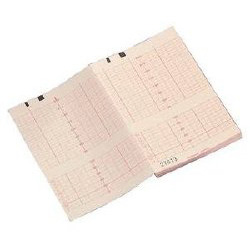CooperSurgical Fetal Monitor Recording Thermal Paper, Z-Fold Red Grid
