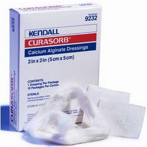 """Covidien curasorb calcium alginate dressing 2"""" x 2"""""""