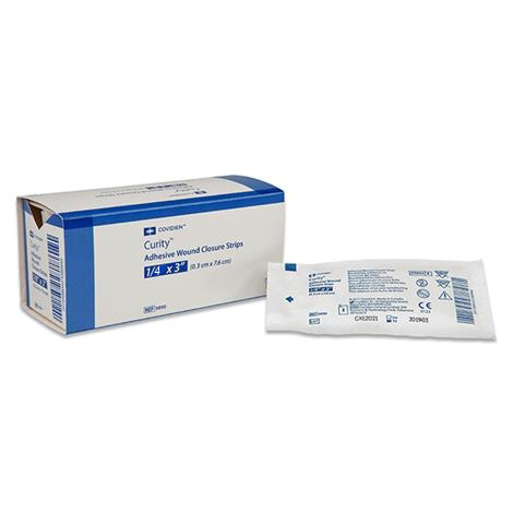 Curity Hypoallergenic Adhesive Wound Closure Strips