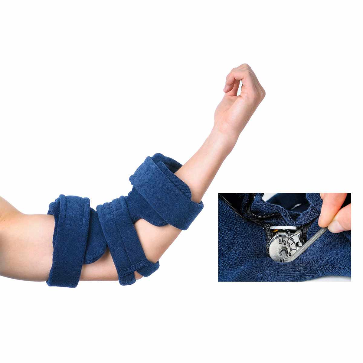 Comfyprene Goniometer Elbow Orthosis with Neoprene Cover