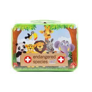 Cosrich Endangered Species Kids First Aid Kit 75-Piece Tin