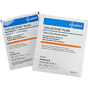 """ColActive Collagen Dressing, Latex Free, Sterile, 2"""" x 2"""""""