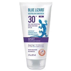 Blue Lizard Sport Australian Sunscreen Cream, SPF 30+, 3 oz