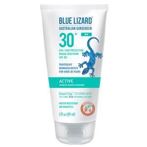 Blue Lizard Australian Active Sunscreen Cream, SPF 30+, 3 oz