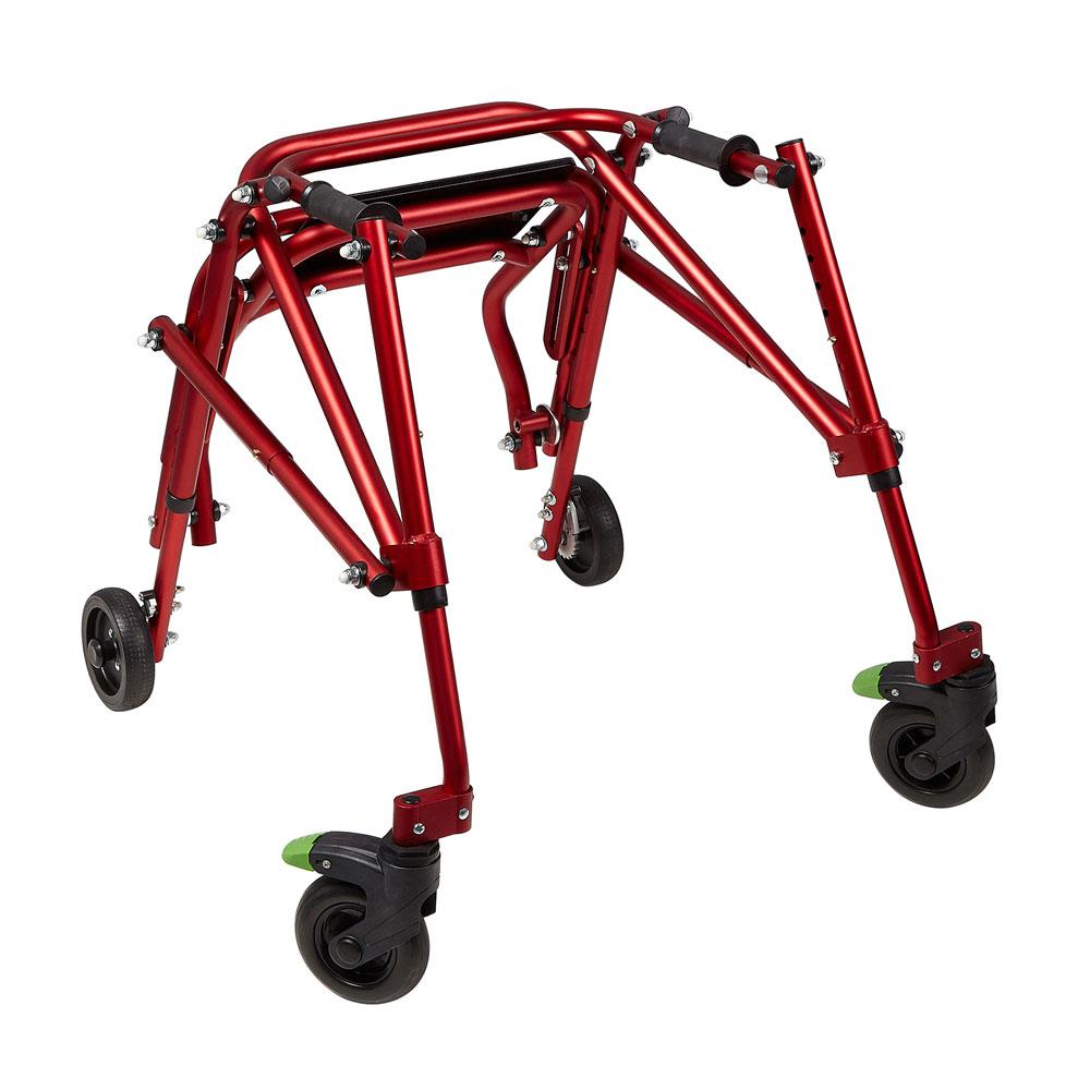 Klip 4-wheeled posterior walker - Seat folded