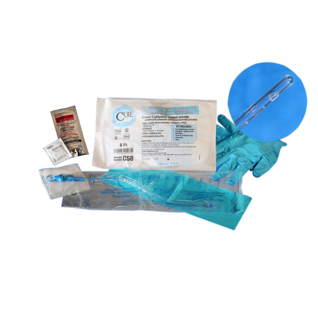 Cure Closed System Intermittent Catheter Kit, Straight Tip