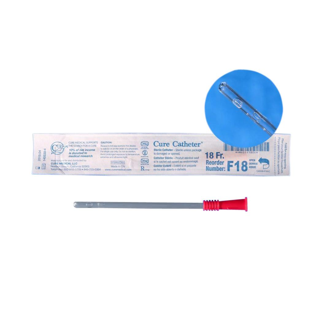 """Cure Catheter Female Straight Tip Intermittent Catheter 18Fr 6"""""""