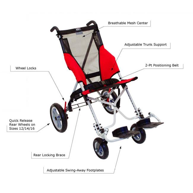 Convaid Metro wheelchair - Features