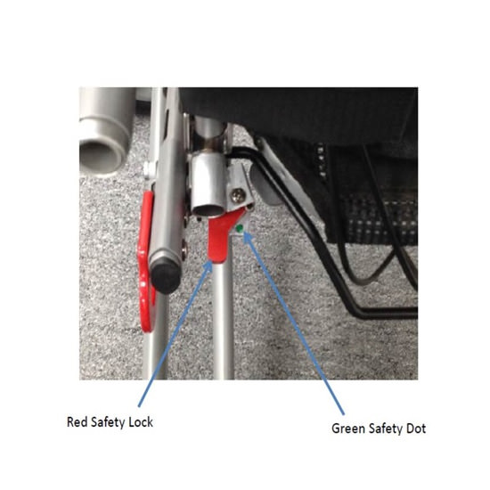 Convaid rodeo stroller - Safety lock feature