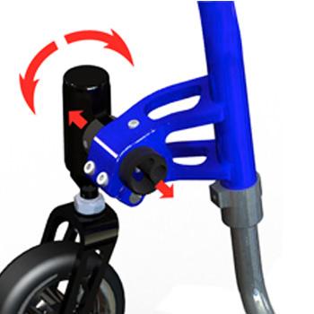 Saber lightweight rigid manual wheelchair